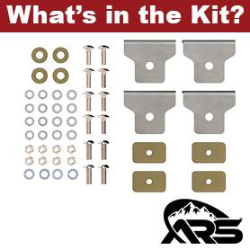 JT Gladiator Bed Rack Middle Support Kit