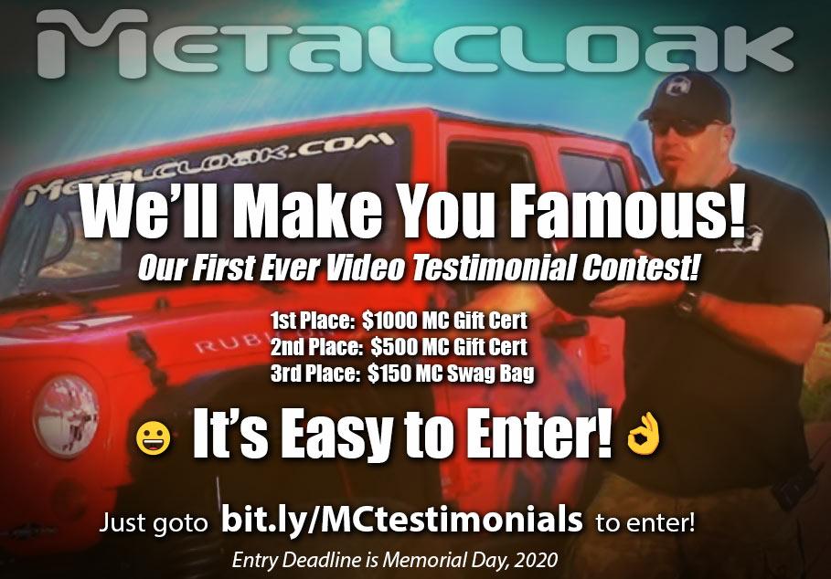 metalcloak testemonial video contest banner