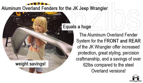 Overland Light Weight Aluminum Fenders