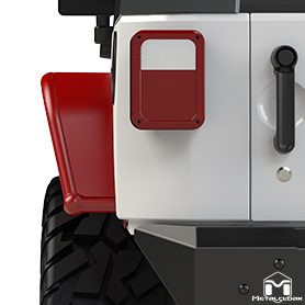 JK Wrangler Overland Rear Fenders Coverage