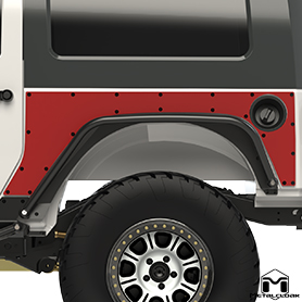 MetalCloak Overland Fenders with Extended ExoSkins