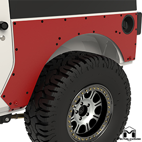 JK 2-Door Rear ExoSkins