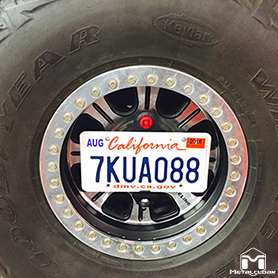 License Plate Mount With Tire