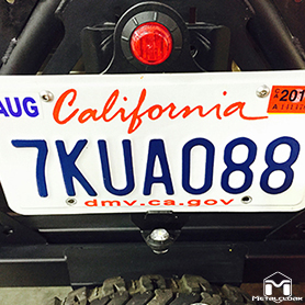License Plate Mount Without Tire