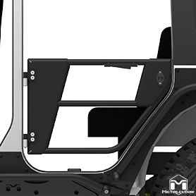 JK Wrangler Rear Open Frame Tube Doors