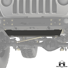 JL Wrangler Combo Bumper Base Skid Plate Front View