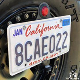License Plate Adapter With License Plate