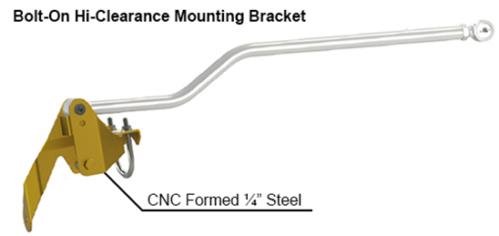 JK Wrangler Track Bar Relocation Bracket
