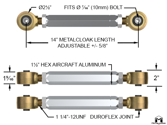 Upper Rear Duroflex Control Arm