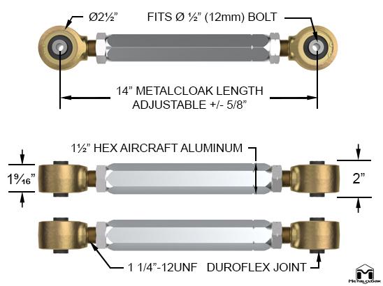 Upper Rear Duroflex Control Arm