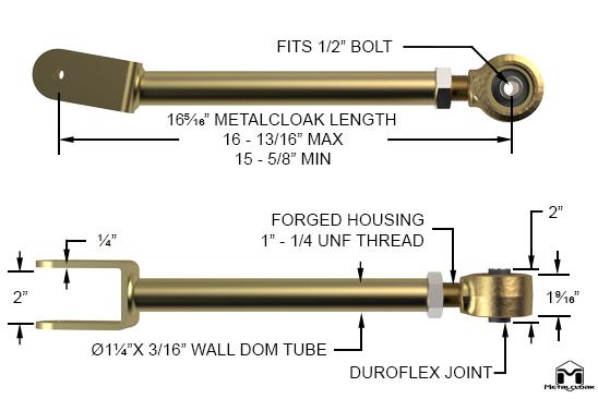 TJ Wrangler Upper Front Duroflex Control Arms