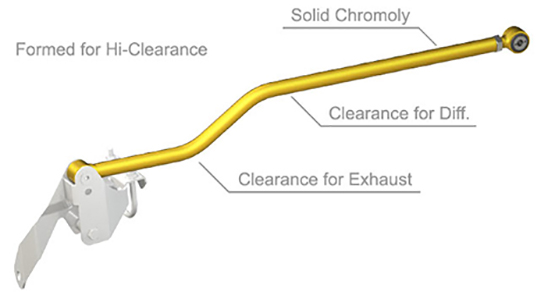 Durotrak Rear Track Bar Clearance