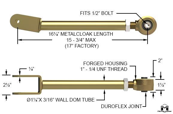 JK Wrangler Upper Front Duroflex Control Arms