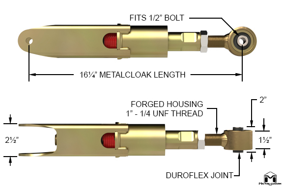 Lock-N-Load Control Arm Specs