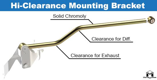 Durotrak Rear Track Bar Clearance