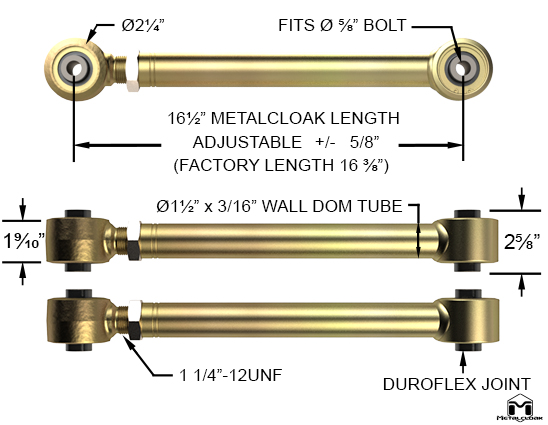 JK Upper Rear Duroflex Control Arm