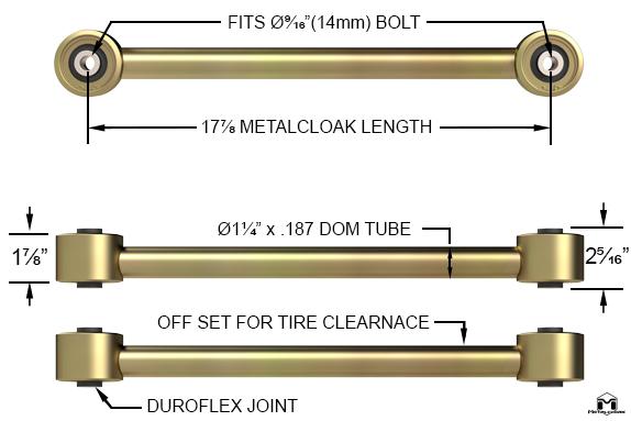 Ram Front Upper Duroflex Control Arm