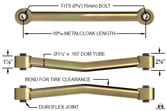 Ram Lower Front Duroflex Control Arm