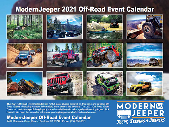 Off Road Calendar Back
